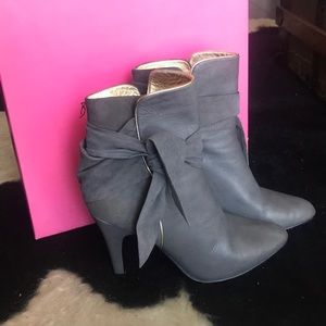 Betsey Johnson Leather High Heeled Boots